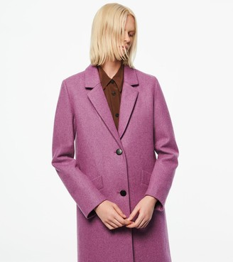 Andrew Marc Paige Wool Melton Boucle Coat