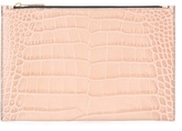 Victoria Beckham Small Simple Embossed Leather Pouch