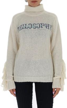 Philosophy di Lorenzo Serafini Turtleneck Fringed Sweater