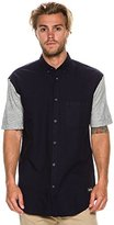 Zanerobe Men's Colorblock 7 Foot Tall Short Sleeve Button Down Shirt