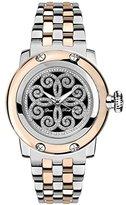 Glam Rock Women's Palm Beach 40mm Multicolor Rose Gold Plated Bracelet Steel Case Quartz Watch GR40413