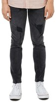 Topman Frayed Stretch Skinny Fit Jeans