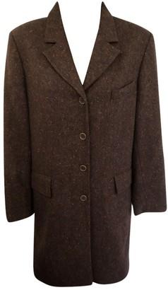 Liberty of London Designs Brown Wool Coat for Women