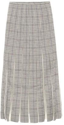 Gabriela Hearst Binka checked wool midi skirt