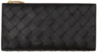 Bottega Veneta Black Multi Slot Snap Wallet
