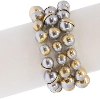 Saachi Half Moon Faux-Pearl Bracelet