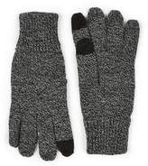 Topman Mens Grey Salt And Pepper Gray Touch Screen Gloves