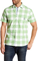 Psycho Bunny Plaid Short Sleeve Trim Fit Shirt