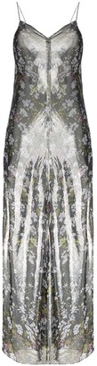Ganni Metallic Floral Maxi Dress