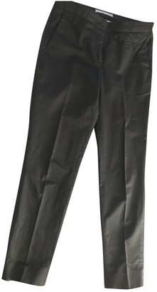 Fabiana Filippi Grey Cotton Trousers for Women