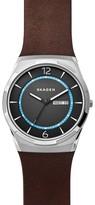 Skagen Melbye Leather Strap Watch, 40Mm