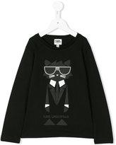 Karl Lagerfeld logo cat print top