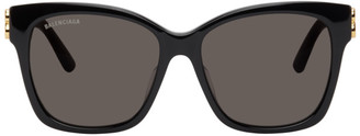 Balenciaga Black Dynasty Square Sunglasses