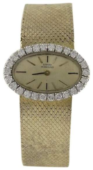 Girard Perregaux 18K Yellow Gold Vintage 26mm Womens Watch