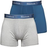 Reebok Mens Ainslie Performance Medium Two Pack Trunks Mix