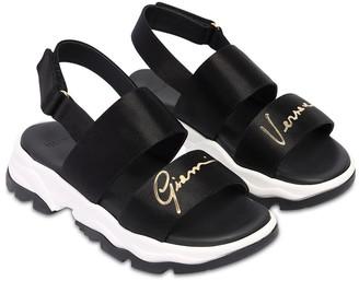 Versace Sandals W/ Logo Print