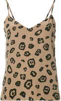 L'Agence leopard printed cami top - women - Silk/Polyester - S