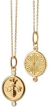 "Monica Rich Kosann ""Queen Bee"" Diamond Charm Necklace"