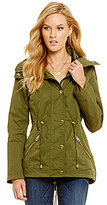 GUESS Shawl Collar Hooded Anorak Jacket
