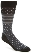 Lorenzo Uomo Men's Winter Dot Stripe Socks