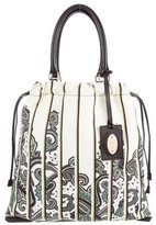 Etro Printed Leather Tote