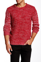 NATIVE YOUTH Contrast Sleeve Marled Knit Sweater