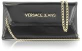Versace Black Wallet Clutch w/Chain