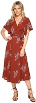Brigitte Bailey Audrina Wrap Dress with Embroidery Women's Dress