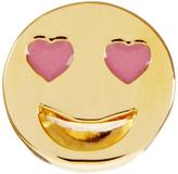 Alison Lou Enamel & yellow-gold Lovestruck Face earring
