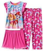 Nickelodeon PAW PATROL SKYE And MARSHALL Girl's Rainbow 3-Piece Pajama Set