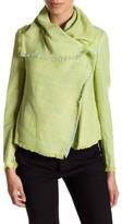 Anne Klein Asymmetrical Multi Tweed Jacket