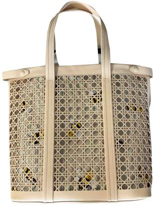 Christian Dior Beige Leather Bags