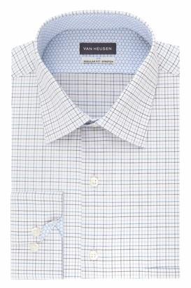 Van Heusen Men's Dress Shirt Air Regular Fit Stretch Check