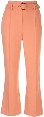 Jonathan Simkhai Florence crepe cropped trousers