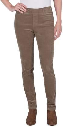 Haggar Petite Slim Straight Stretch Corduroy Pants