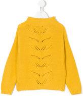 Il Gufo floral knit jumper
