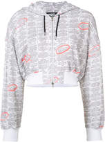 Jeremy Scott zip up printed hoodie