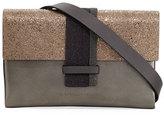 Brunello Cucinelli Metallic Leather Crossbody Bag
