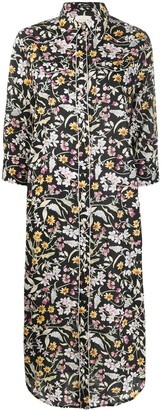 R 13 Floral-Print Shirt Dress