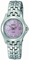 Seiko Women's SXDB87 Dress Solid Stainless-Steel Case and Bracelet Pink Mother-of-Pearl Dial Watch