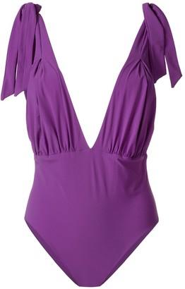 Carine Gilson V-Neck Soft Bra Swimsuit