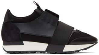 Balenciaga Black Race Runner Sneakers