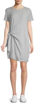 Vince Striped Cotton T-Shirt Dress
