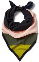 Banana Republic Color-Blocked Pleated Square Scarf