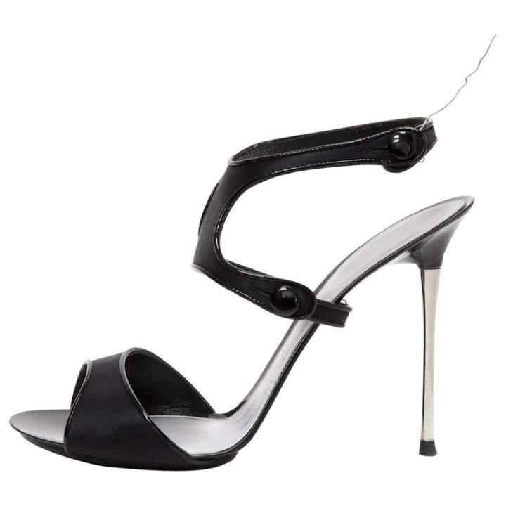 Gianvito Rossi Black Cloth Sandals