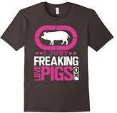 Men's Pig Shirt I Just Freaking Love Pigs Gift T-Shirt XL