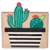 Kate Spade Women's Scenic Route Cactus Card Holder - Green