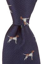 Class Club Pointer Hunting Dog Silk Tie