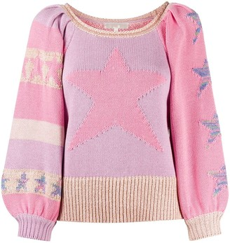 LoveShackFancy Ryland colour-blocked jumper