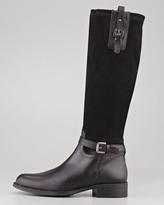 Aquatalia by Marvin K Aquatalia Upstart Stretch Suede Knee Boot, Black